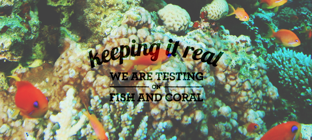 reef safe sunscreen keepingitreal_testingfishandcoral